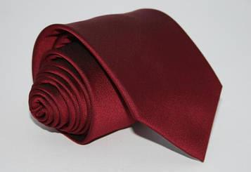 Галстук однотонный бордовый 8,5 см.