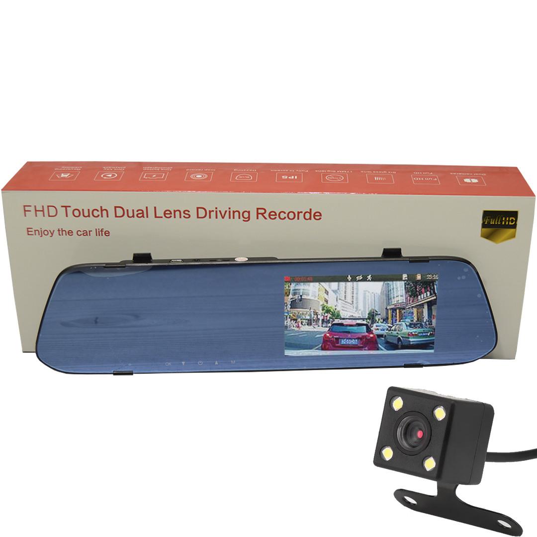 Зеркало с видео регистратором DVR L502 Full HD с камерой заднего вида