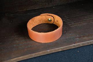 Браслет на руку Винтажная кожа цвет Коньяк, фото 3