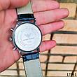 Часы мужские в стиле Armani. Мужские наручные часы серебристые. Часы с черным циферблатом Годинник чоловічий, фото 5