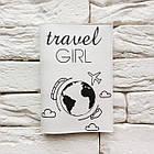 Обложка на паспорт Travel girl 7 (белый), фото 2