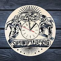 Тематические настенные часы из дерева «Сноубординг», фото 1