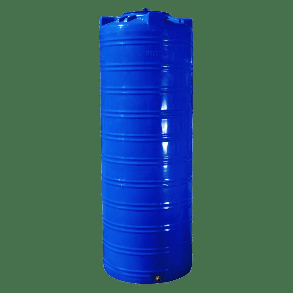 Емкость для воды 1000 л. узкая, вертикальная, двухслойная