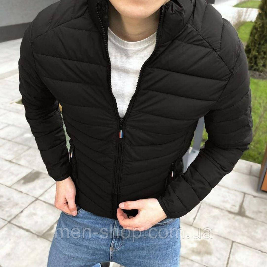 Мужская куртка весенняя черная