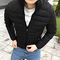 Мужская куртка весенняя черная, фото 1