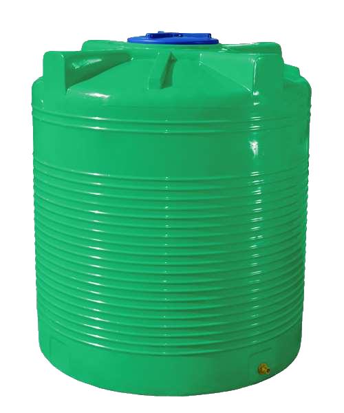 Емкость 1500 л. вертикальная, двухслойная зеленая