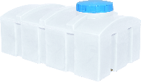 Емкость из пластика 1000 литров квадратная однослойная