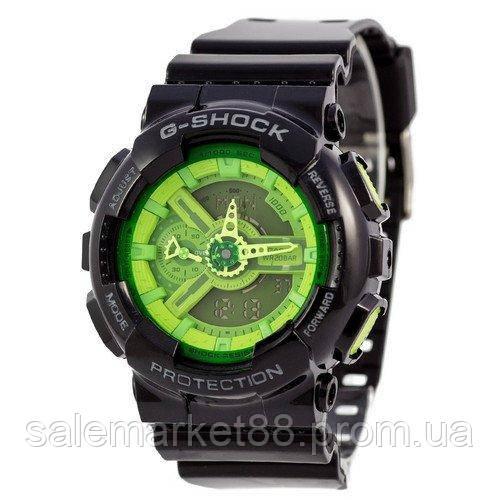 Casio G-Shock AAA GA-110 Black-Light Green Autolight