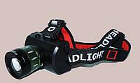 Налобный фонарик BL 6967 c T6 диодом, мощный светодиодный аккумуляторный фонарь, яркий налобный фонарик