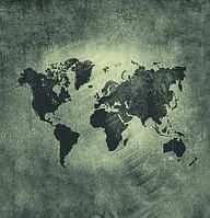 """Фотообои """"Карта мира лофт"""""""