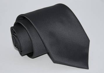 Галстук однотонный серый 8,5 см.