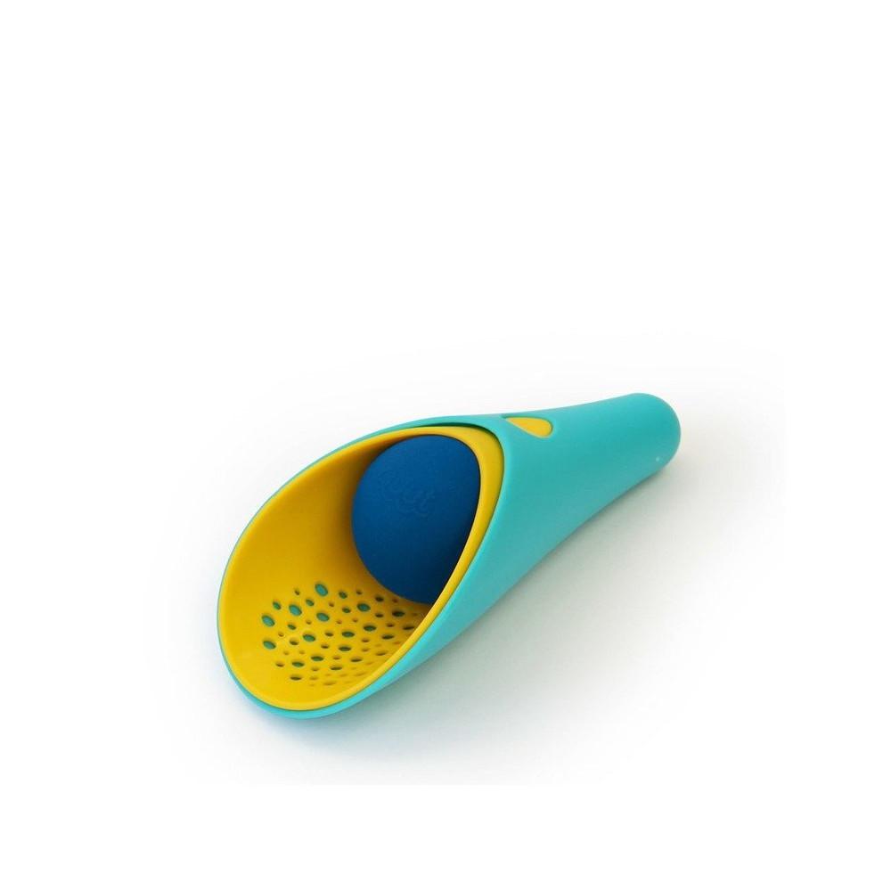 Ігровий набір для піску і снігу Quut Cuppi совочки зелений з жовтим і синій м'ячик (170648)