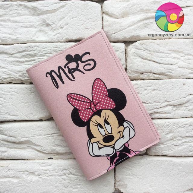 Обложка на паспорт Minnie Mouse 3 (розовый)