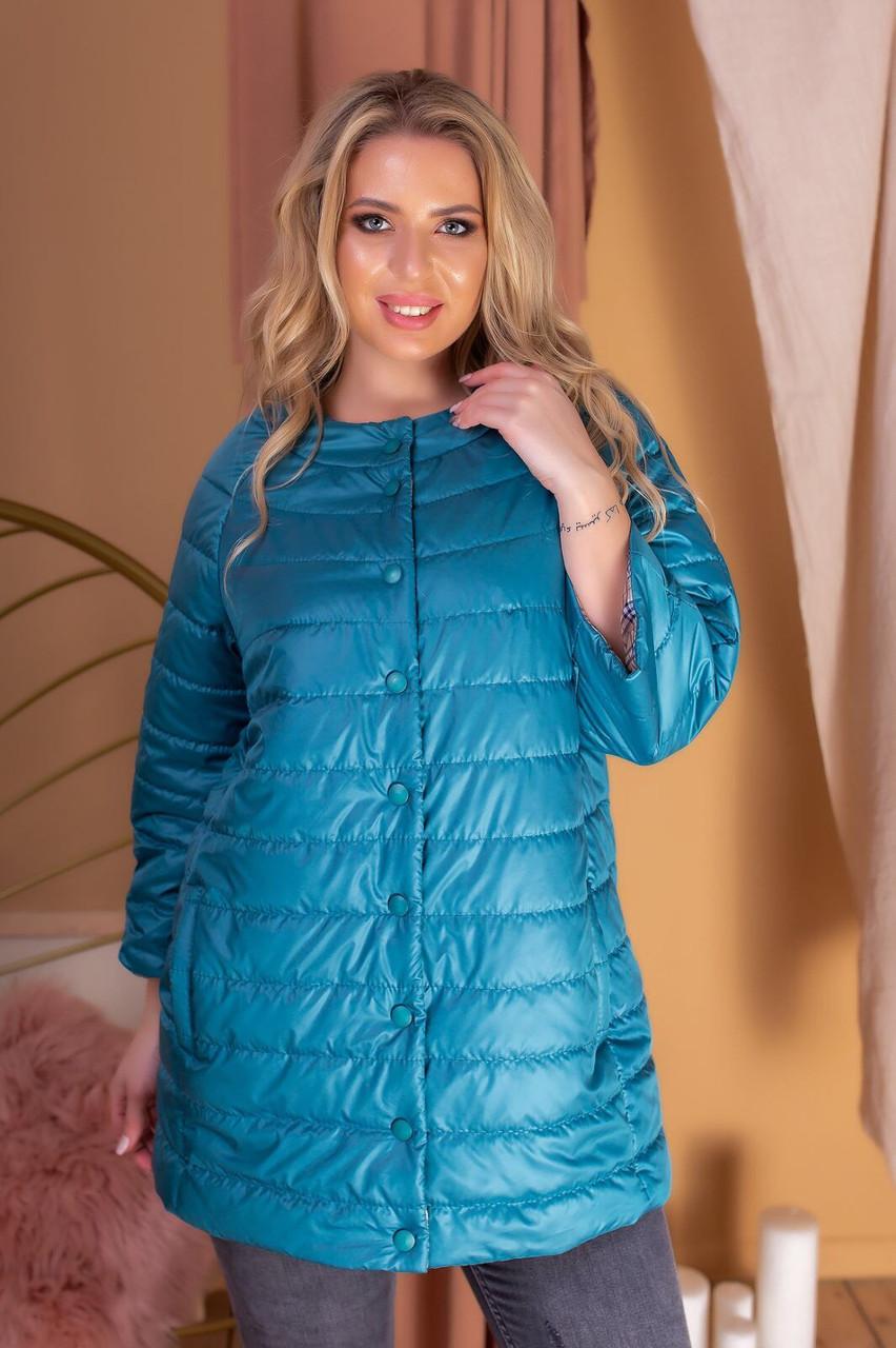 Куртка женская арт. 203 аквамарин / цвет морской волны / сине зеленый