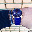 Часы мужские в стиле Armani. Мужские наручные часы синие. Часы с синим циферблатом Годинник чоловічий, фото 4
