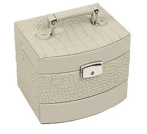 Шкатулка-органайзер для украшений ,бежевая М-403, фото 2