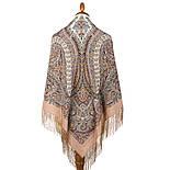 Великолепный век 1867-16, павлопосадский платок (шаль, крепдешин) шелковый с шелковой бахромой, фото 5