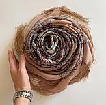 Великолепный век 1867-16, павлопосадский платок (шаль, крепдешин) шелковый с шелковой бахромой, фото 7