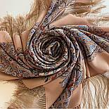 Великолепный век 1867-16, павлопосадский платок (шаль, крепдешин) шелковый с шелковой бахромой, фото 9