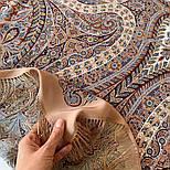 Великолепный век 1867-16, павлопосадский платок (шаль, крепдешин) шелковый с шелковой бахромой, фото 4