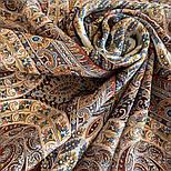 Великолепный век 1867-16, павлопосадский платок (шаль, крепдешин) шелковый с шелковой бахромой, фото 8