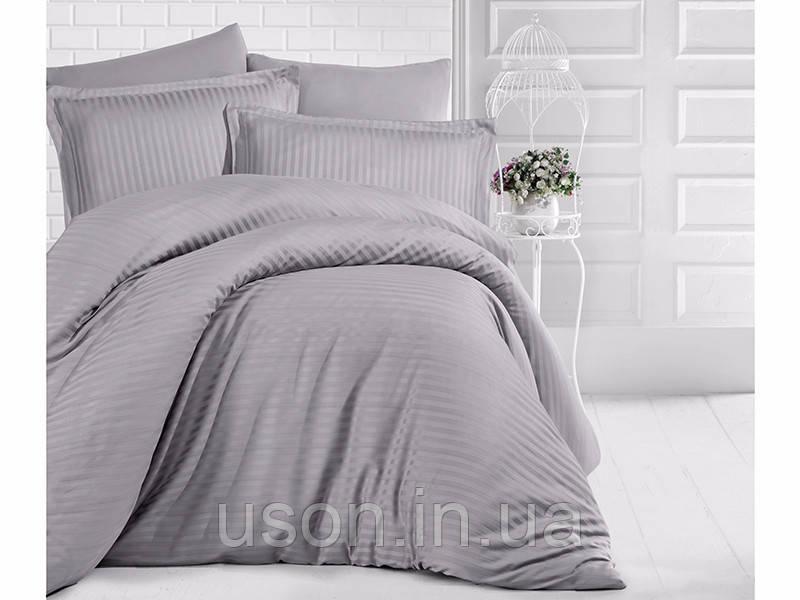 Комплект постельного белья Aran Clasy delux ранфорс 200*220 GRI