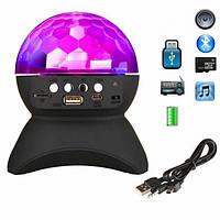 Диско-шар на аккумуляторе Charging crystal magic ball Bluetooth L-740 Black