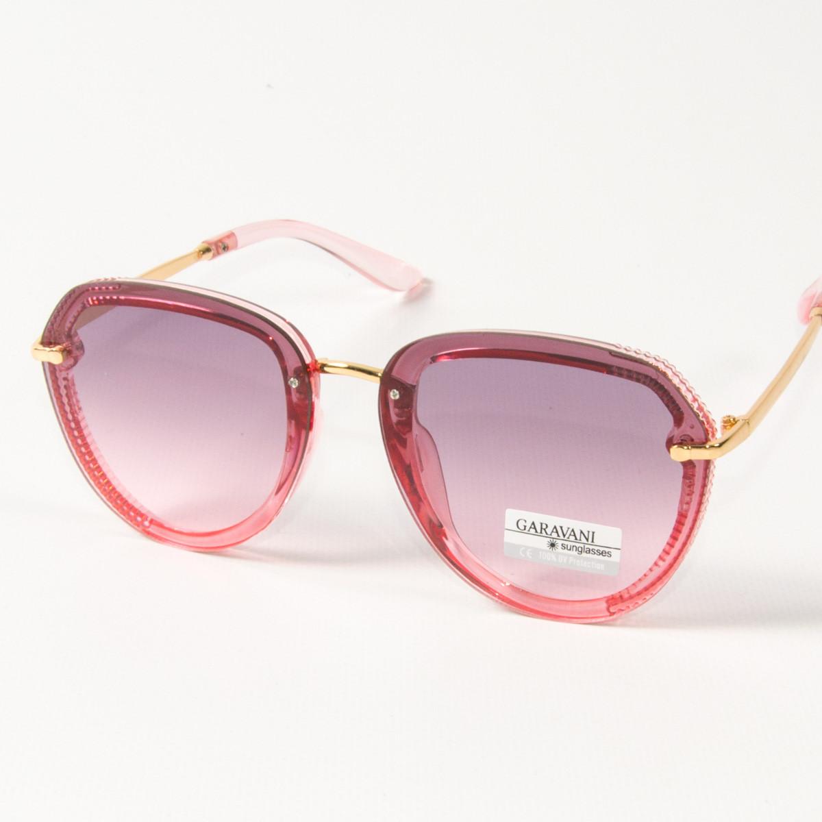 Оптом женские солнцезащитные очки авиатор  (арт. 33707/2) розовые