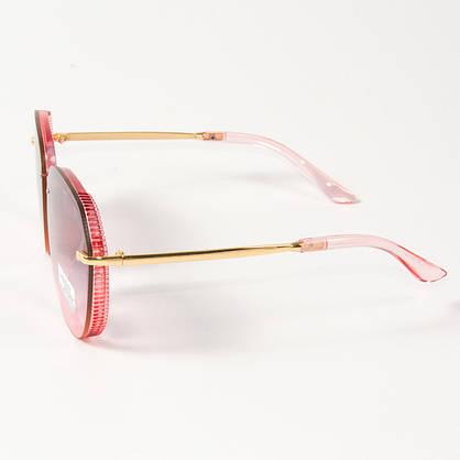 Оптом женские солнцезащитные очки авиатор  (арт. 33707/2) розовые, фото 2