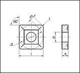 Пластина твердосплавная сменная 03114-150412 Т5К10;Т15К6;ВК8;ТТ10К8Б;ТТ7К12, фото 3