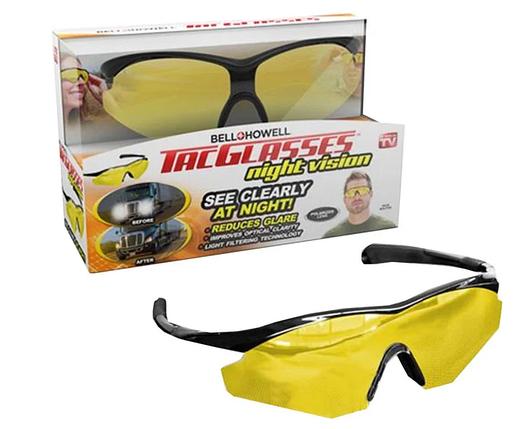 Антибликовые очки солнцезащитные для водителей Tag Glasses Large PVC box glasses, фото 2