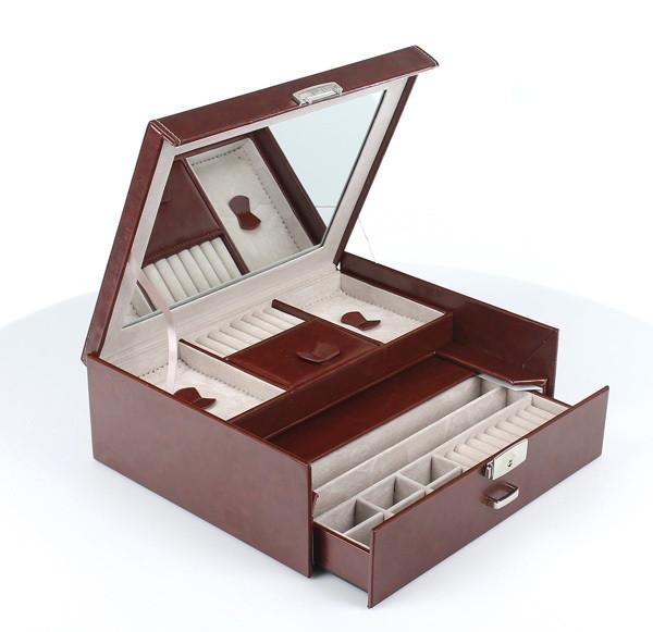 Шкатулка-органайзер для украшений, бордо, 50-552b