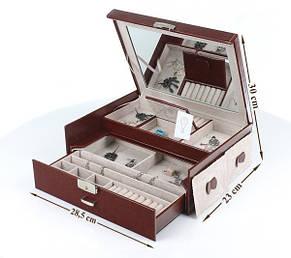 Шкатулка-органайзер для украшений, бордо, 50-552b, фото 2
