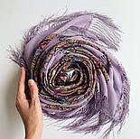 Великолепный век 1867-15, павлопосадский платок (шаль, крепдешин) шелковый с шелковой бахромой, фото 5