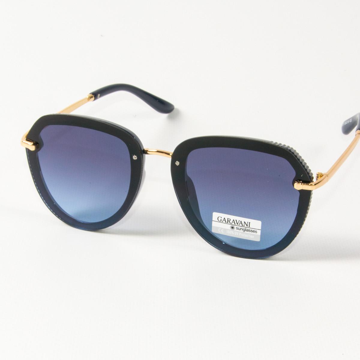 Оптом женские солнцезащитные очки авиатор  (арт. 33707/4) синие
