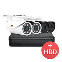 Комплект видеонаблюдения на 4 камеры Partizan PRO AHD-414xCAM, фото 1