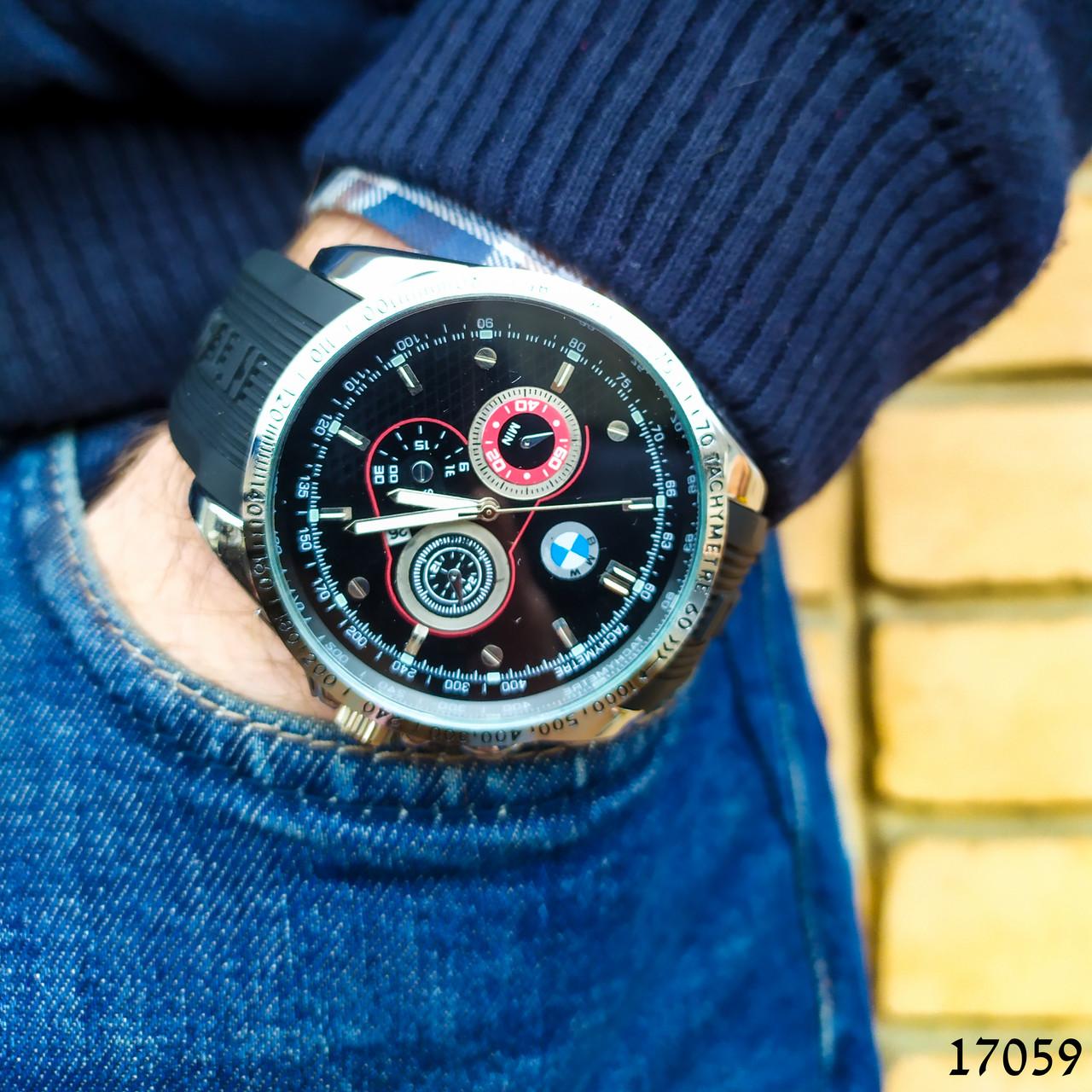 Часы мужские в стиле BMW. Мужские наручные часы черные. Часы с черным циферблатом Годинник чоловічий