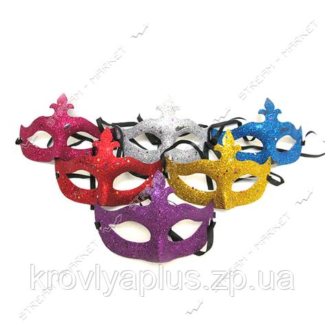 Маска карнавальная,новогодняя С блестками ассорти, фото 2