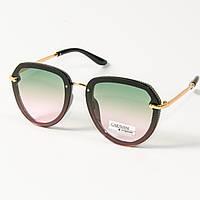 Женские солнцезащитные очки авиатор  (арт. 33707/5) зеленые, фото 1