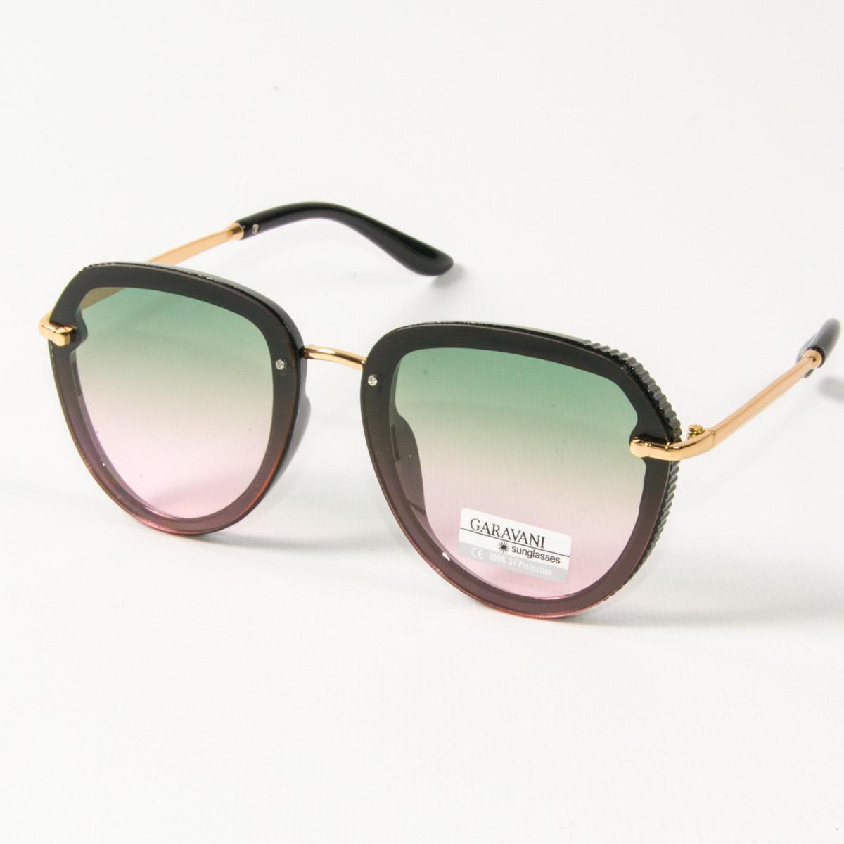 Женские солнцезащитные очки авиатор  (арт. 33707/5) зеленые