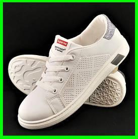 Жіночі Кросівки Сліпони Білі Мокасини (розміри: 37)