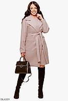 Качественное весеннее кашемировое пальто на подкладке с поясом р-ры 48-54 арт 1042/1