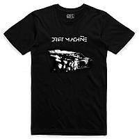 Мужская футболка черного цвета DRIFTMACHINE