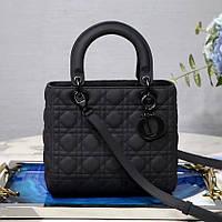 Кожаная женская сумка Dior ultra matte. Натуральная кожа, пыльник! Люкс качество.