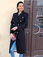 Демисезонное кашемировое пальто миди длины батальное