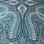 Великолепный век 1867-11, павлопосадский платок (шаль, крепдешин) шелковый с шелковой бахромой, фото 5