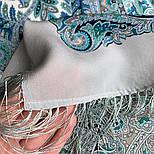 Великолепный век 1867-11, павлопосадский платок (шаль, крепдешин) шелковый с шелковой бахромой, фото 7