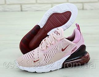Женские кроссовки Nike Air Max 270 Pink (розово-бордовые)