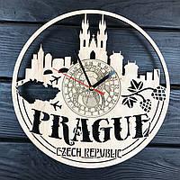 Дизайнерские деревянные часы в интерьер «Прага», фото 1