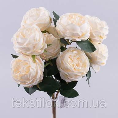 Букет розы премиум  персиковый   45 см Цветы искусственные